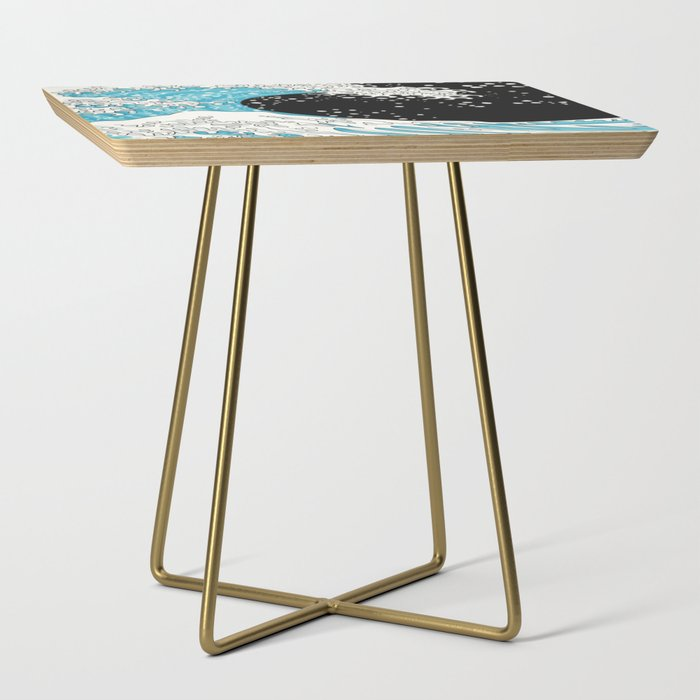 The Great Wave (night version) Side Table