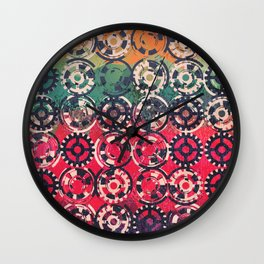 Grunge industrial pattern Wall Clock