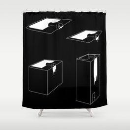 The exit (story in 4 acts) Shower Curtain