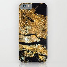 Space Station View of New York City at Night Photograph iPhone Case