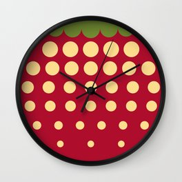 strawberry || russian black Wall Clock
