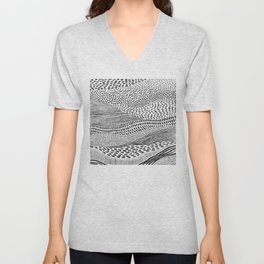 Hand Drawn Patterned Abstract II Unisex V-Neck