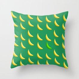 Bananas abide. Throw Pillow