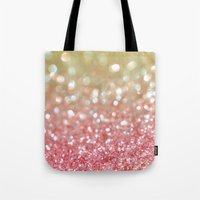 champagne Tote Bags featuring Champagne Tango by Lisa Argyropoulos