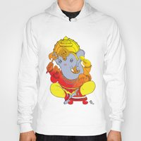 ganesh Hoodies featuring Ganesh  by xDiNKix