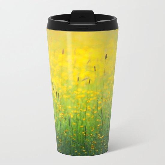 Field green yellow Metal Travel Mug