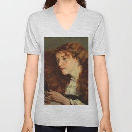 """Gustave Courbet """"Jo, La Belle Irlandaise"""" Unisex V-Neck"""