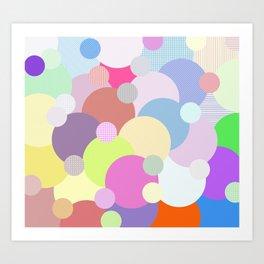 Des ballons qui couvrent le ciel Art Print