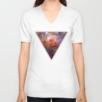 stargate V-neck T-shirts featuring Space by Square Lemon