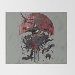 Itachi Uchiha Jutsu Throw Blanket