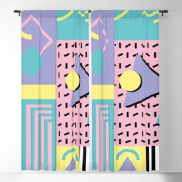 Memphis Pattern 27 - 80s - 90s Retro / 1st year anniversary design Blackout Curtain