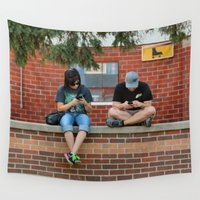 text Wall Tapestries featuring Text Chat by IowaShots