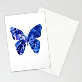 Fluid Butterfly (Blue Version) Stationery Cards