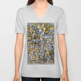 Tableau No. 2, Composition No. Vii - Piet Mondrian Unisex V-Neck