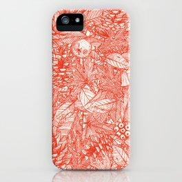forest floor fire orange ivory iPhone Case