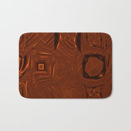 Abstract Art- Brown Art- Sacred Geometry Art- Mom From the Lotus Bath Mat