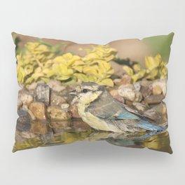 young bird bathes Pillow Sham