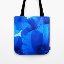 Blue Poppies #decor #society6 #buyart Tote Bag