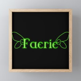 Faerie With Wings Framed Mini Art Print