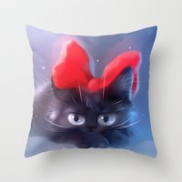 witchcraft Throw Pillows featuring Witchcraft by apofiss