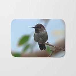 Juvenile Male Anna's Hummingbird Bath Mat