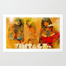 Vintage 76 ( 3 wenches) Art Print