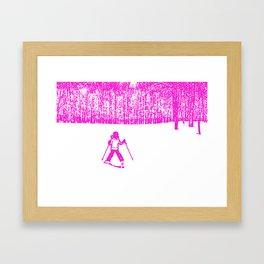 Little Skier II Framed Art Print