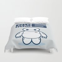 baymax Duvet Covers featuring BAYMAX by bimorecreative