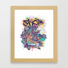 SKI8R Framed Art Print