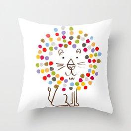 Dandy Lion Throw Pillow