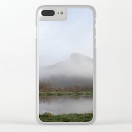 Foggy Morning Bluff Clear iPhone Case