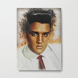 Elvis Presley Mini art print Metal Print