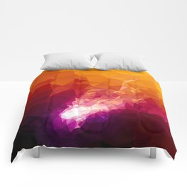 Galaxy Low Poly 44 Comforters
