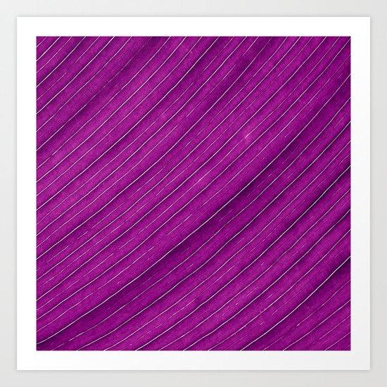 purple banana leaf Art Print