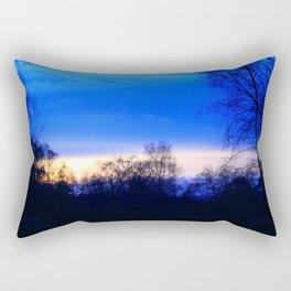 Cold Winter Sunset Rectangular Pillow