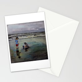 Kids on a Beach Stationery Cards
