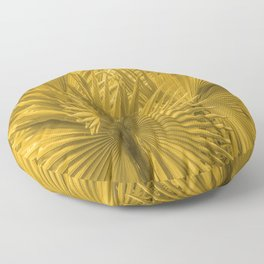 Palm Leaves: Golden Hues Floor Pillow