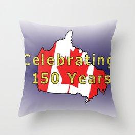 150th Birthday (Glitter) Throw Pillow