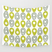 avocado Wall Tapestries featuring Avocado by curious creatures