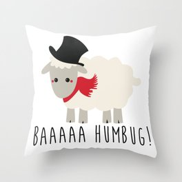 Bah Humbug - Lamb Throw Pillow
