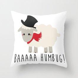 Bah Humbug - Lamb Throw Pillow