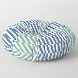 Crossing the lines - the blue and green optical illusion Floor Pillow
