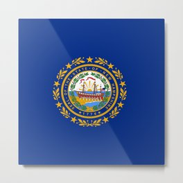 flag new hampshire,america,us,granite,new england, new hampshirite,Concord,keene,Nashua,portsmouth Metal Print