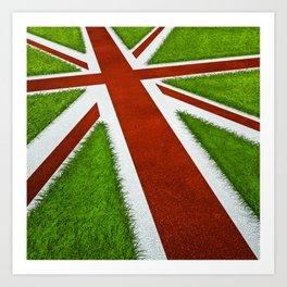 UK track and field Art Print