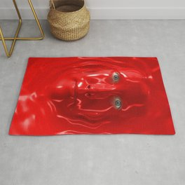 The Red Liquid Face Rug