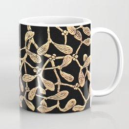 Mistletoe Black Coffee Mug