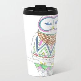 Auroral Owl Metal Travel Mug