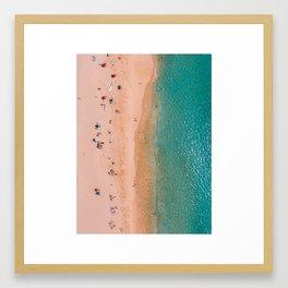 On a Beach in Hawaii Framed Art Print