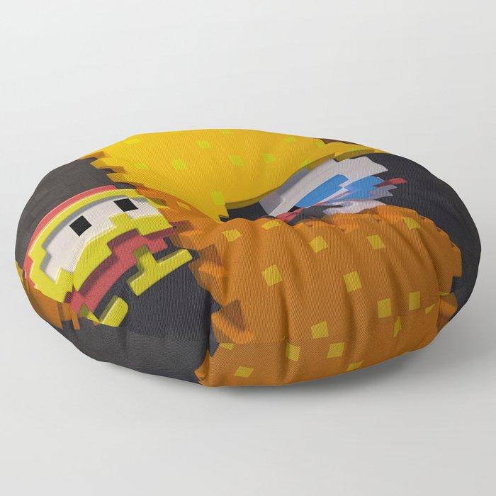 Inside Dig Dug Floor Pillow