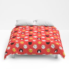 Christmas Kitties Comforters